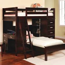 l shaped bunk bed for kids with desk and ladder plus chest of