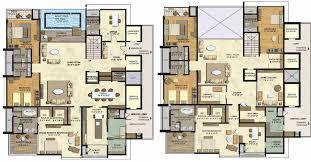 brilliant apartment floor plans in hyderabad super area 1250 and