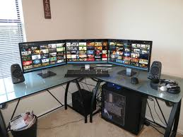 Gaming Corner Desk by So Classy Deciding If A Want A Glass Desk Surface Or Not