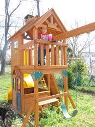 Cedar Playsets Outdoor Home Depot Swing Set Cedar Summit Playhouse Cedar
