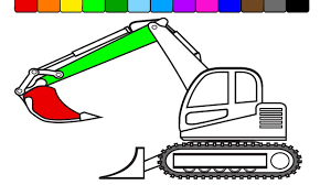 how to draw excavator construction truck coloring pages kidstv