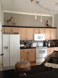 Paint Colors For Kitchen Walls With Oak Cabinets Sherwin Williams Functional Gray To De Pink Pickled Oak Cabinets