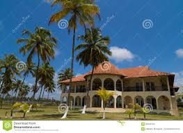 european architecture holiday house on the beach stock photo