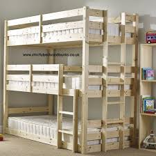 Wood Bunk Beds Plans by Pandora 3 Tier Triple Sleeper Pine Bunk Bed New House