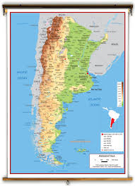 Physical Map Of South America by Argentina Physical Educational Wall Map From Academia Maps
