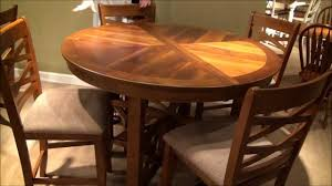 5 pc bistro round oval x base counter height table dining room set