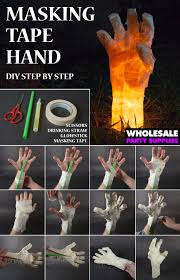 diy masking tape hand prop decoration tutorials and masking tape