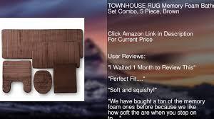 Mohawk Memory Foam Rug Pad Townhouse Rug Memory Foam Bathroom Set Combo 5 Piece Brown Youtube