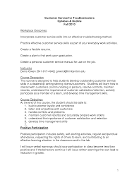 Customer Service Representative Resume Objective Customer Service