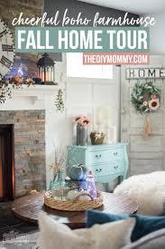 fall 2017 home tour cheerful boho farmhouse style the diy mommy