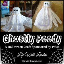 poise halloween craft ghostly peedy life with lorelai