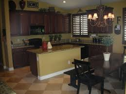 Paint Colors For Kitchen Walls With Oak Cabinets Good Kitchen Idea For Family Gathering Dark Cabinets Wall Color