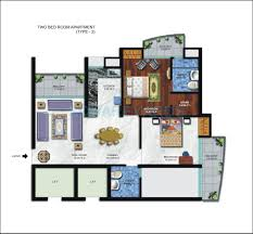 900 Sq Ft Floor Plans by 100 2bhk Plan For 500 Sq Ft 2 Bhk 1000 Sq Ft Apartment For