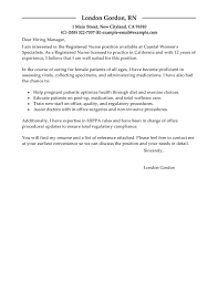 Examples Of Nursing Resumes For New Graduates Sample Cover Letter For Registered Nurse Resume Resume For Your