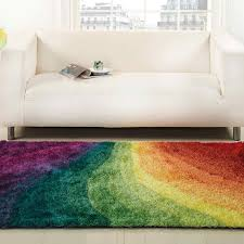 Funky Rugs This Stylish Rainbow Design Offers An Anti Shed Shaggy Pile And