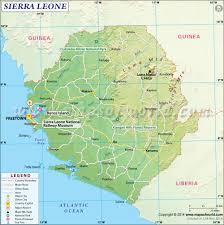 A Map Of America by Map Of Sierra Leone Sierra Leone Map