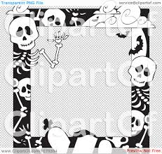 black and white halloween backgrounds clipart black and white cemetery and skeleton halloween border