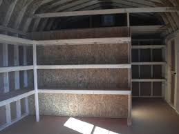 Loft Shelving by 12x20 Dutch Barn With Organizer Package Lots Of Shelves U0026 Lofts