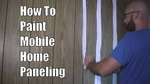 how to paint mobile home paneling youtube