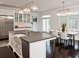 l shaped kitchen island designs with seating and mini pendant