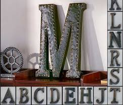 Metal Decorative Letters Home Decor Letters Postal History Ebay