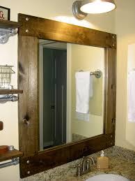 Bathroom Mirror Ideas On Wall Oak Framed Wall Mirror 58 Enchanting Ideas With Large Framed