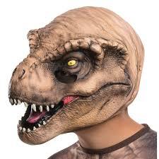 halloween costume mask buy jurassic world t rex 3 4 mask for kids