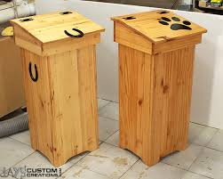 Free Wooden Garbage Box Plans by How To Make A Wooden Trash Can Jays Custom Creations