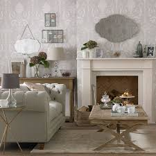 The  Best Damask Living Rooms Ideas On Pinterest Gothic - Wallpaper living room ideas for decorating