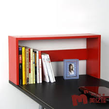 decoration ideas creative red wooden bookshelf for home interior