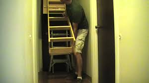 how to install pull down attic stairs youtube