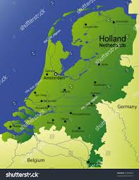 Detailed Map Of Germany by Detailed Map Holland Netherlands Stock Illustration 37606930