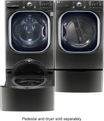 lg 4 5 cu ft 14 cycle front loading washer black wm4370hka
