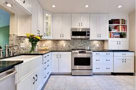 Dark And White Kitchen Cabinets White Kitchen Cabinets With Black Granite Countertops You Must
