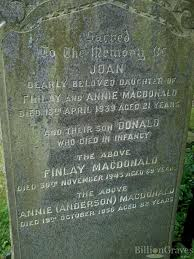 grave site of donald macdonald billiongraves