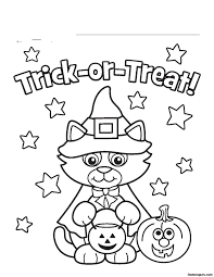 colouring pages of halloween cats u2013 halloween wizard