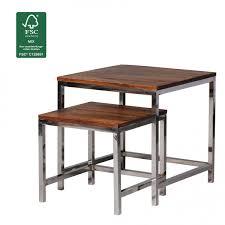 Wohnzimmertisch Modern Finebuy 2er Set Satztisch Massiv Holz Sheesham Wohnzimmer Tisch
