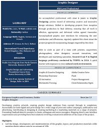 Graphic Designer Resume Sample graphic designer cv format u2013 graphic designer resume sample and