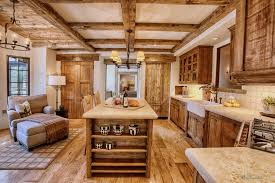 plain rustic cabinets in design