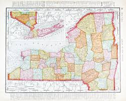 New York State Map by Old Map Of New York State Usa 1900 Stock Photo Picture And