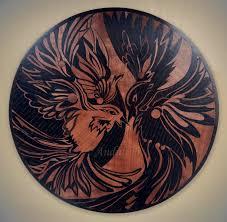 original jinjang wooden zen bird art marquetry inlay intarsia