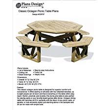 Plans To Build A Picnic Table Bench by Woodworking Project Paper Plan To Build Octagon Picnic Table