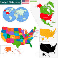 United States Map Delaware by Colorful Usa Map With States And Capital Cities Royalty Free