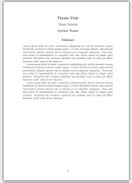 How to Write a Thesis in LaTeX pt     Customising Your Title Page     ShareLaTeX This concludes our series on writing a basic thesis  If you want to play around with the thesis we     ve created in this series you can open the project in