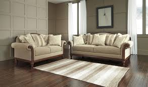 Sofa With Wood Trim by Transitional Sofa With Camel Back And Showood Trim By Signature