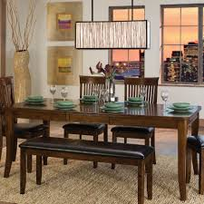 Dining Tables  Triangle Shaped Dining Table With Benches Ashley - Ashley furniture dining table with bench