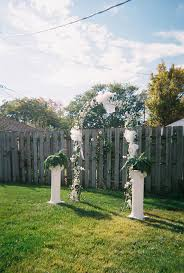 Wedding Backyard Reception Ideas by Best 20 Cheap Backyard Wedding Ideas On Pinterest Backyard