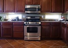Kitchen Backsplash Cherry Cabinets by Pictures Of Kitchens Traditional Dark Wood Kitchens Cherry Color