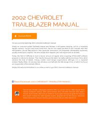 100 hyundai elantra 2002 manual 2002 chevrolet trailblazer