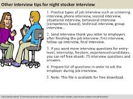 Sample Resume For Overnight Stocker by Night Stocker Interview Questions